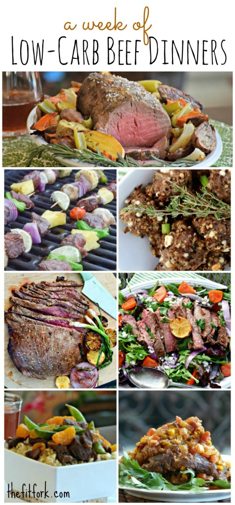 A Week of Low Carb Beef Dinners