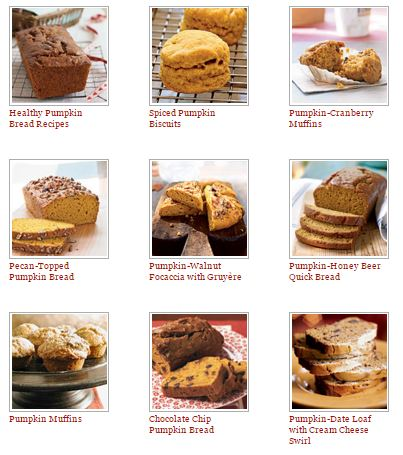 Pumpkin Bread and Muffin REcipes