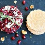 Blue Cheese Pomegranate and Quinoa Caviar