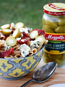 Pasta with Mezetta Blue Cheese Olives