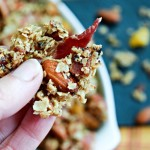 Smokehouse Bacon Almond Granola winning snack for game day.