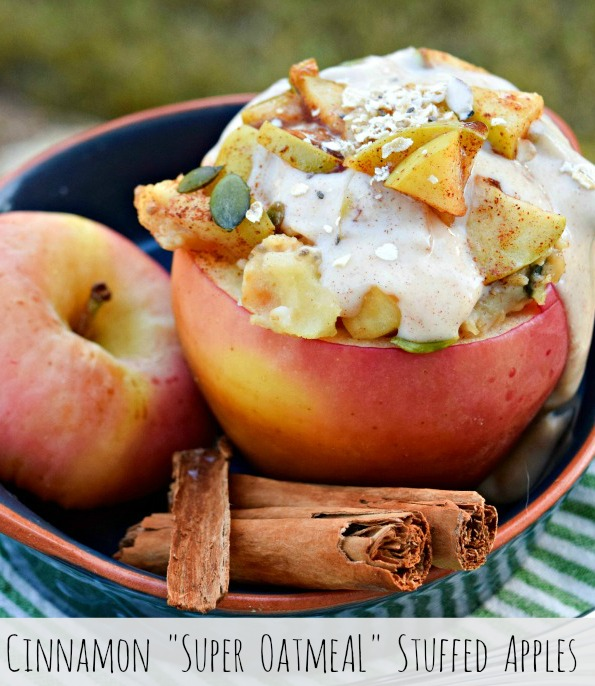 Cinnamon Super Oatmeal Stuffed Apples