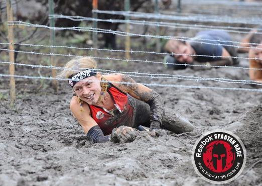 Spartan Beast Dallas Barbed Wire Crawl