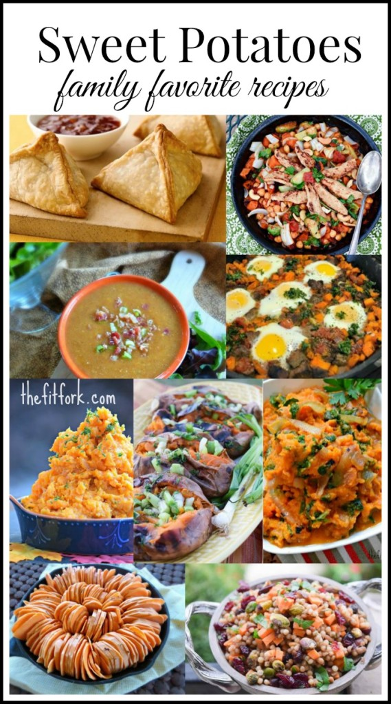 Family Favorite Sweet Potato Recipes for Thanksgiving, Holidays and everyday weeknight dinners.