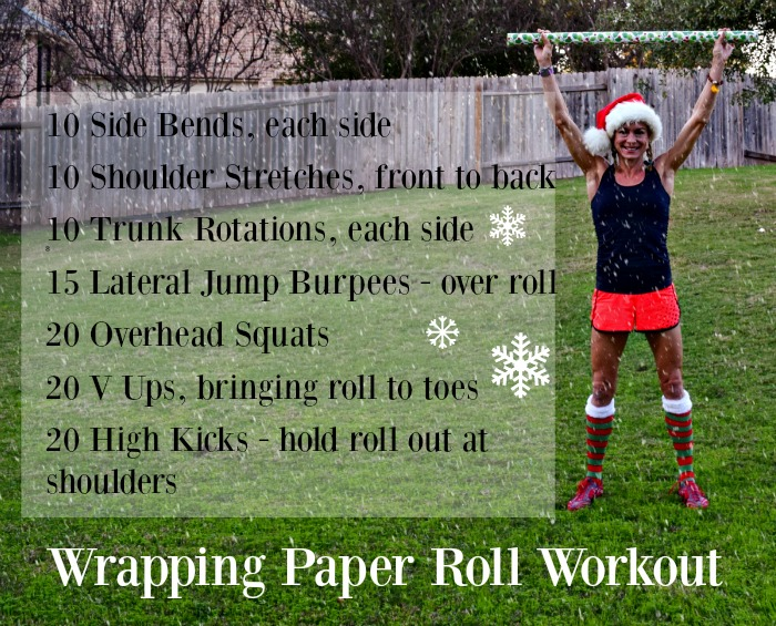 Wrapping Paper Roll Workout - TheFitFork.com