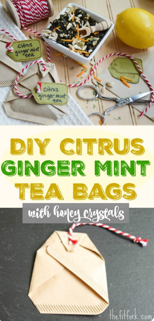 Make your own tea bags that are pre-sweetened with honey crystals!