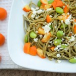 Edamame Spaghetti with Kumquats and Feta makes a high-protein vegetarian meal.