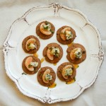 Gingersnap Blue Cheese Orange Bites
