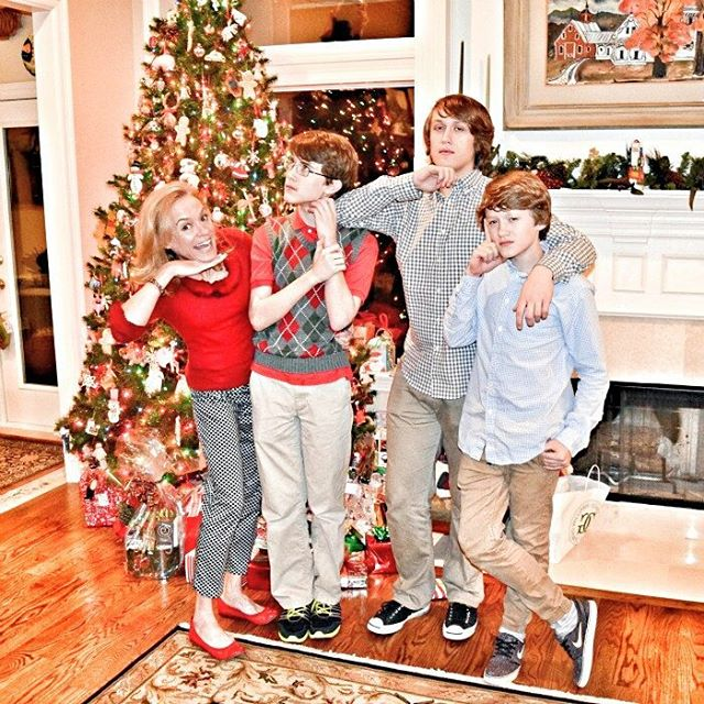 christmas jennifer and boys 2015