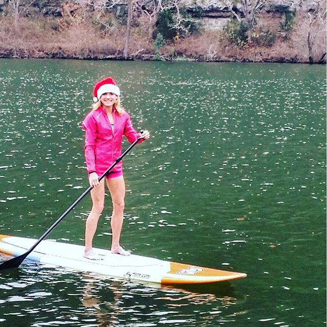 Jennifer Fisher of thefitfork.com stand up paddle board