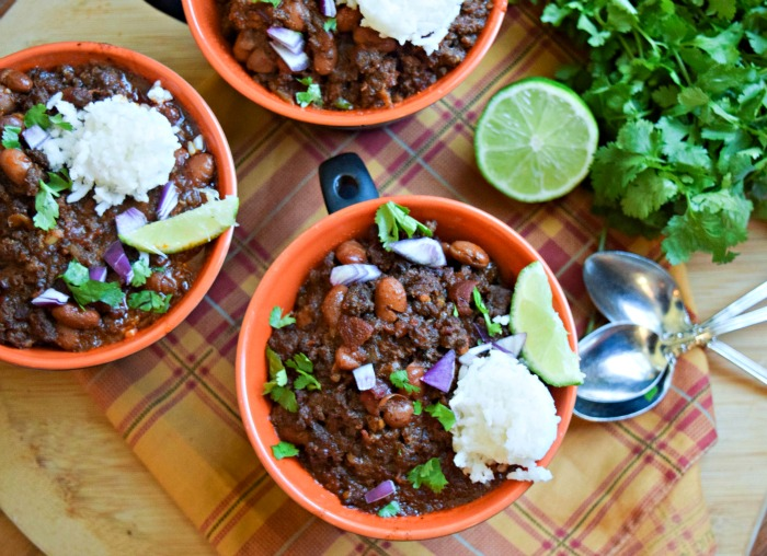 Mugs of Super Secret Ground Beef Chili -horiz