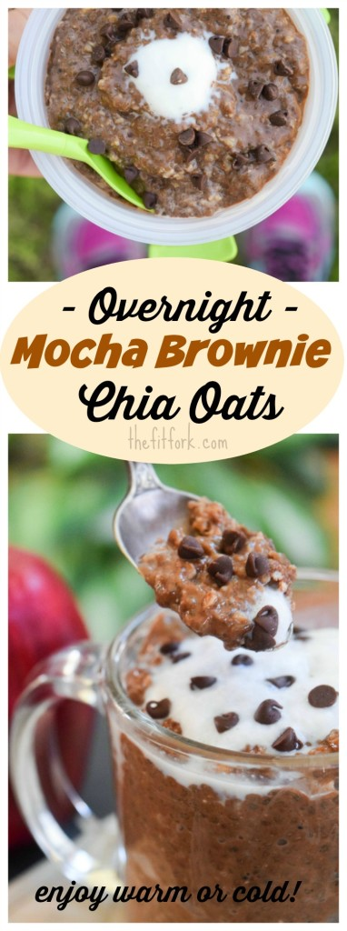 This single-serve make-ahead breakfast with chia and oats can be enjoyed warm or cold! With cocoa and coffee and a few chocolate chips, you'll be smiling in the morning! Let's get ready to meal prep!