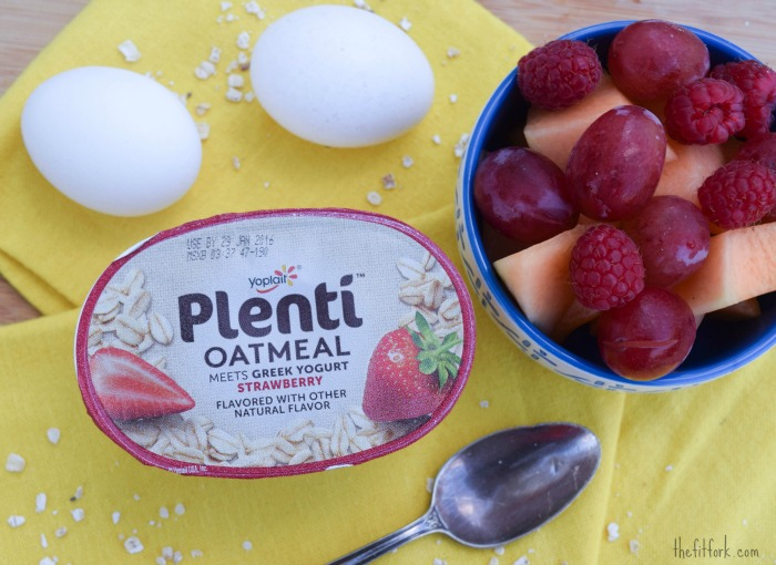 Plenti Yogurt Oatmeal with full meal