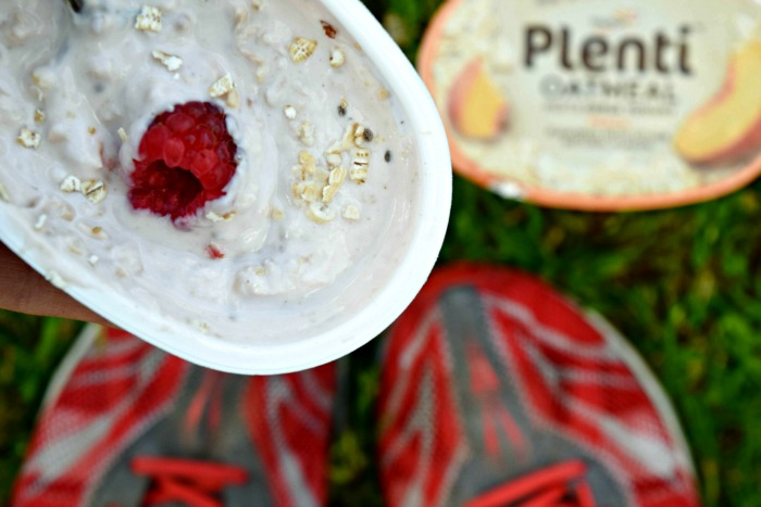 Plenti Greek Yogurt Meets Oatmeal great way to fuel a runner's morning.