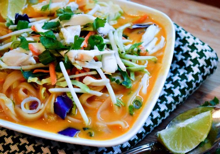 Thai Carrot Crab Noodle Bowl
