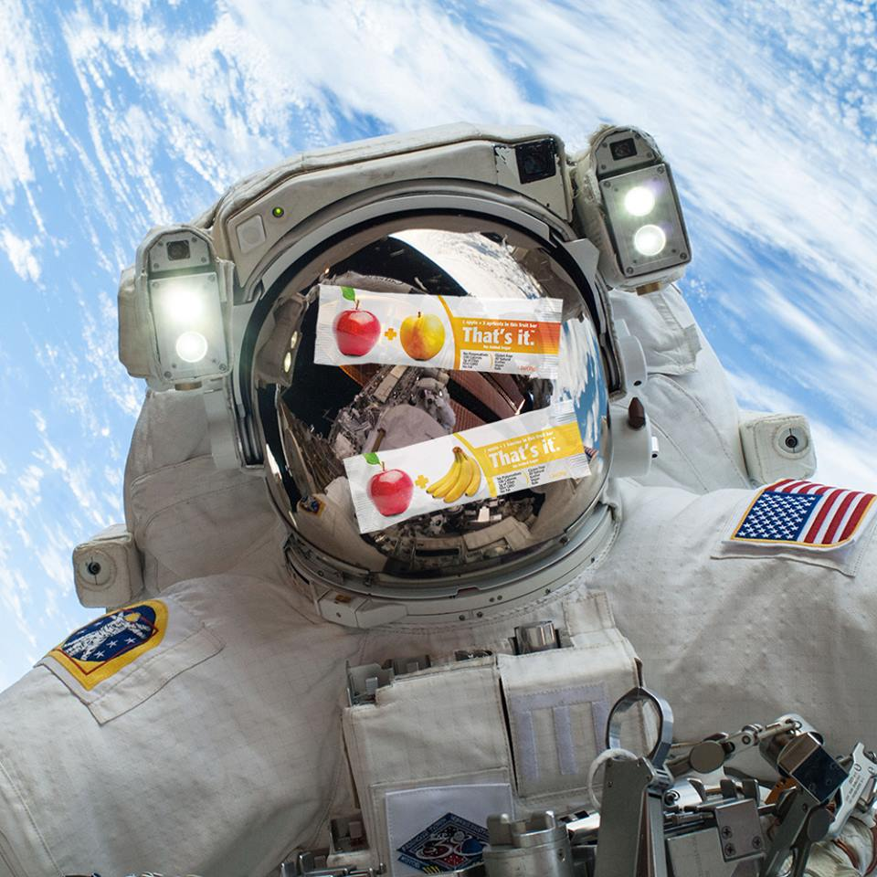 That's It Fruit Bars now being servied on International Space Station