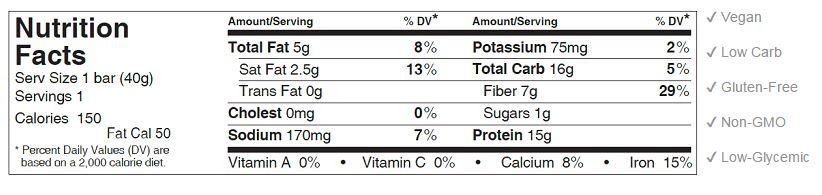 lemon coconut bar nutrition