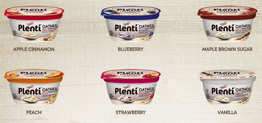 6 Flavors of Plenti Greek Yogurt Meets Oatmeal