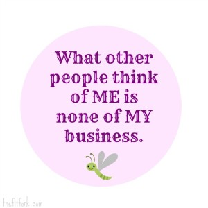 What other people think of me is none of my business.  Inspirational Quote