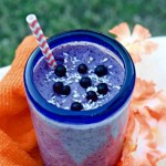 Wild Blueberry Coconut Ginger Smoothie taste like a coconut cream pie and blueberry cheesecake collided, but it's actually a smart choice for breakfast, a workout snack or healthy dessert.