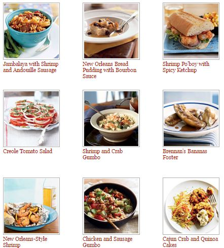 Creole Cajun and New Orleans recipes from Cooking  Light