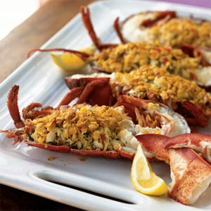 Crab Stuffed Lobster with Citrus Dressing