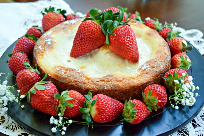 Gluten Free Gooey Butter(less) Cake is also low in sugar and makes a healthier dessert option for everyday and celebrations.
