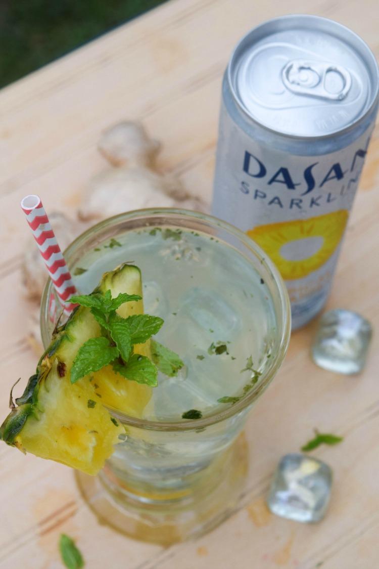 Sparkling Pineapple Ginger Agua Fresca