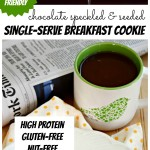 Chocolate Speckled and Seeded Protein Cookie (Single Serve) + Toaster Oven Giveaway