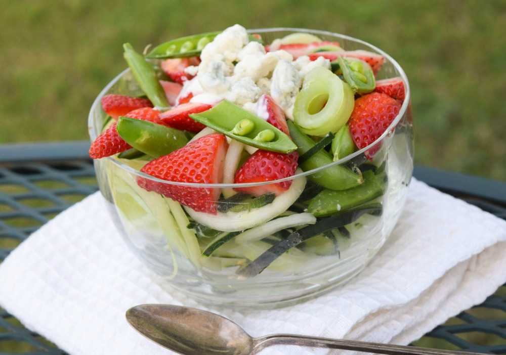 Strawberry Blue Cheese Cucumber Salad small bowl