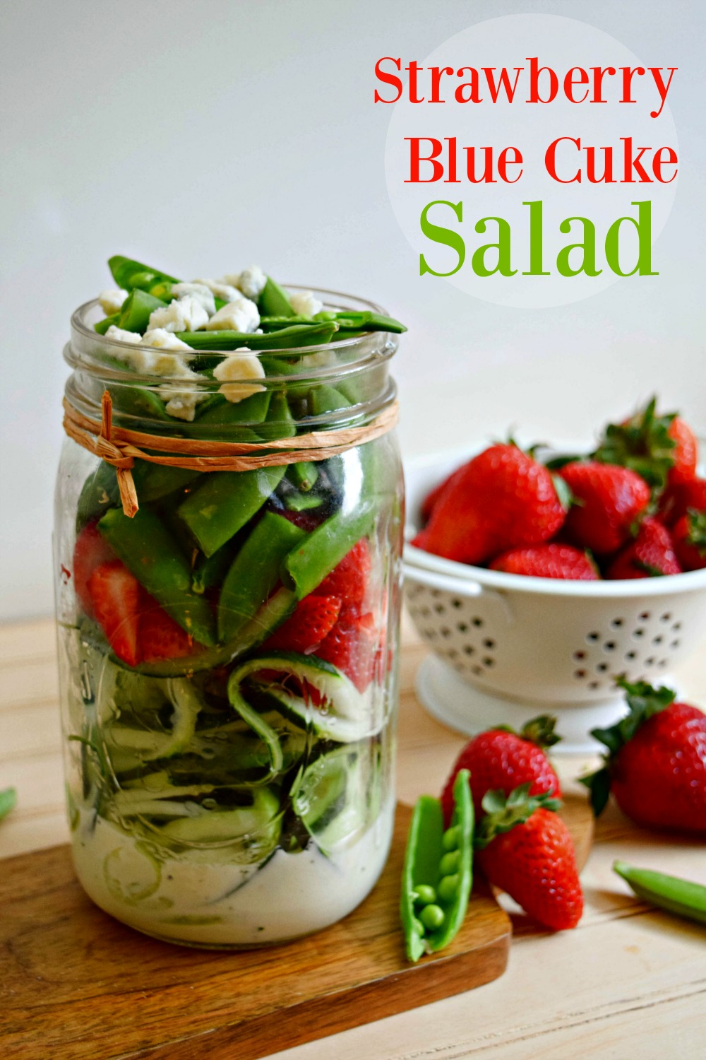 Strawberry Blue Cuke Salad