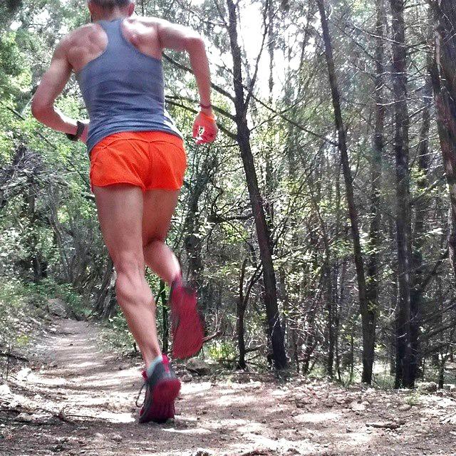 jennifer running on trail