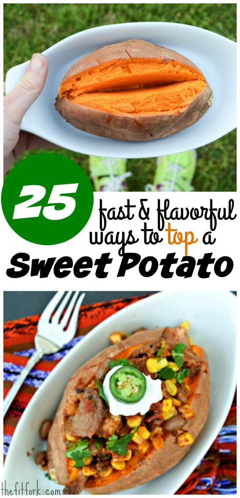 25 Fast and Flavorful Ways to Top a Sweet Potato - easy meal solutions for busy weeknight dinners.