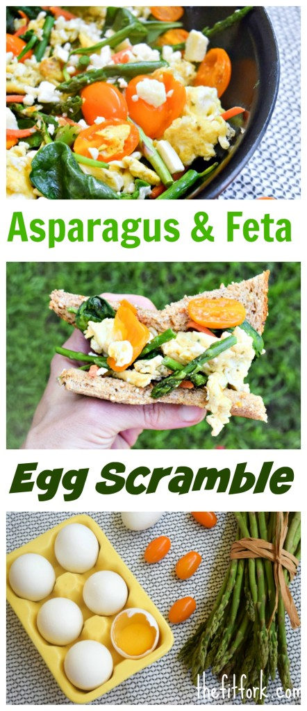 sparagus and Feta Egg Scramble is a simple, protein-rich breakfast solution that comes together in 10 minutes.