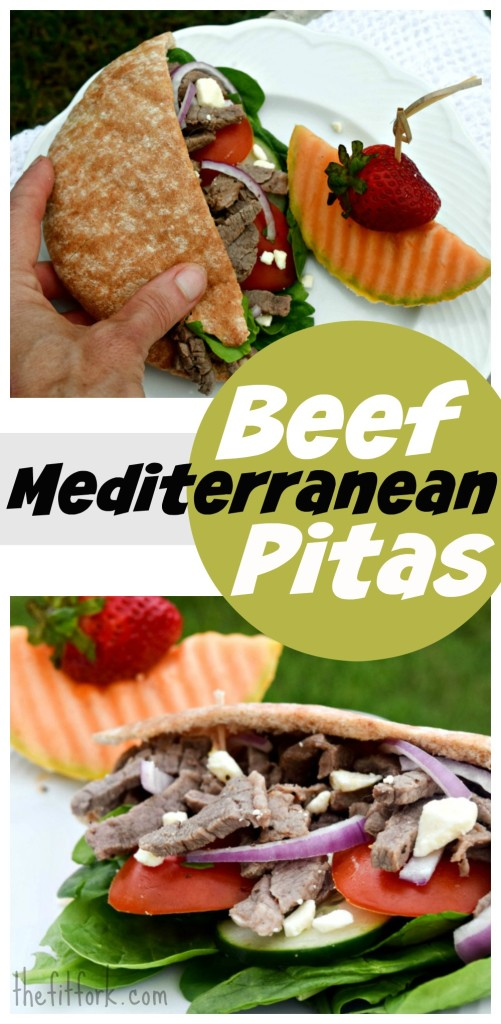 Mediterranean Beef Pitas are a quick and easy lunch or light dinner and pack plenty of protein and veggie nutrition!. This 20 minute recipe uses the stir fry cooking method, keeping it quick and low in fat.