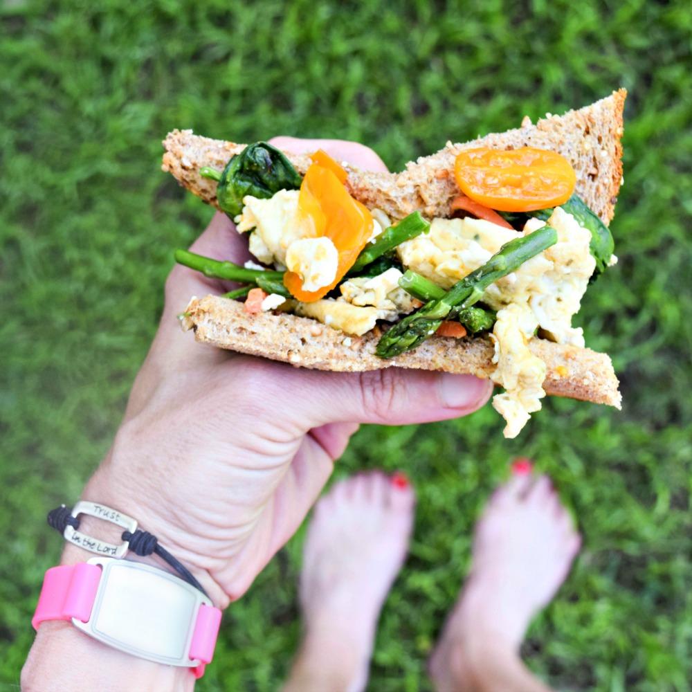 Asparagus & Feta Egg Sandwich