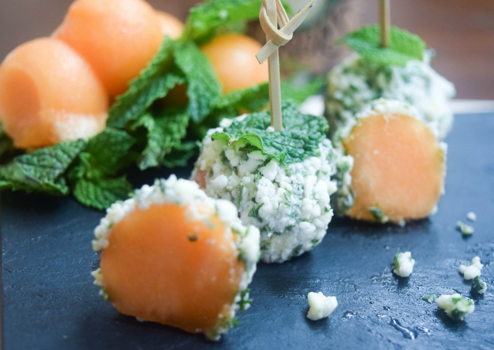 Feta & Herb Cantaloupe Truffles
