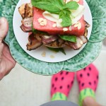 watermelon bacon chicken sandwich