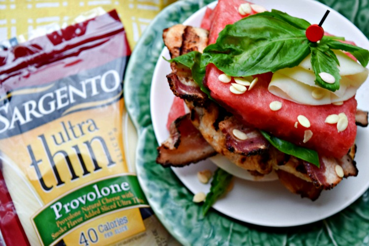 Chicken, Bacon and Watermelon Sandwich with Sargento Provolone