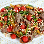 Beef Veggie and Watermelon Stir Fry