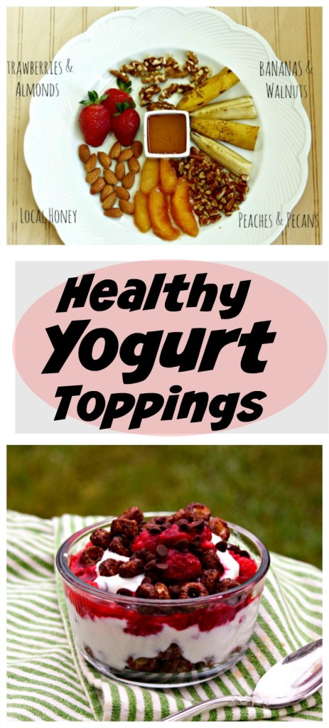 Healthy Yogurt Toppings to add extra yum to your breakfast, snack or healthy dessert.