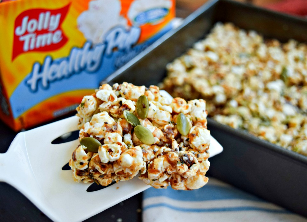 Sweet & Salty Four-Seed Popcorn Bars make a nutritious snack!