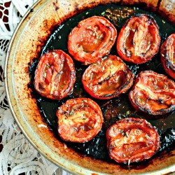 Slow Roasted Balsamic Tomatoes 250 - thefitfork
