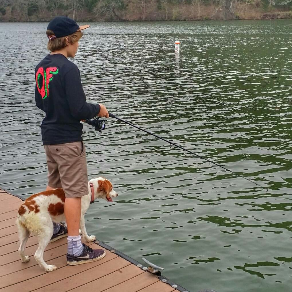 davis fishing with lucy