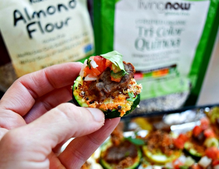 Steak and Quinoa Squachos -- a low carb, gluten free appetizer!