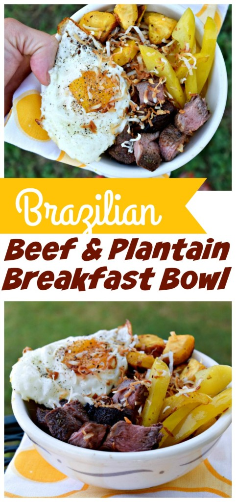 Brazilian Beef & Plantain Breakfast Bowl is a healthy way to start the day, packed with 28g protein and quality complex carbs for energy.