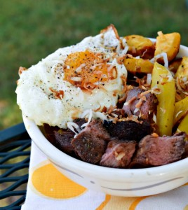Brazilian Beef and Plantain Breakfast Bowl