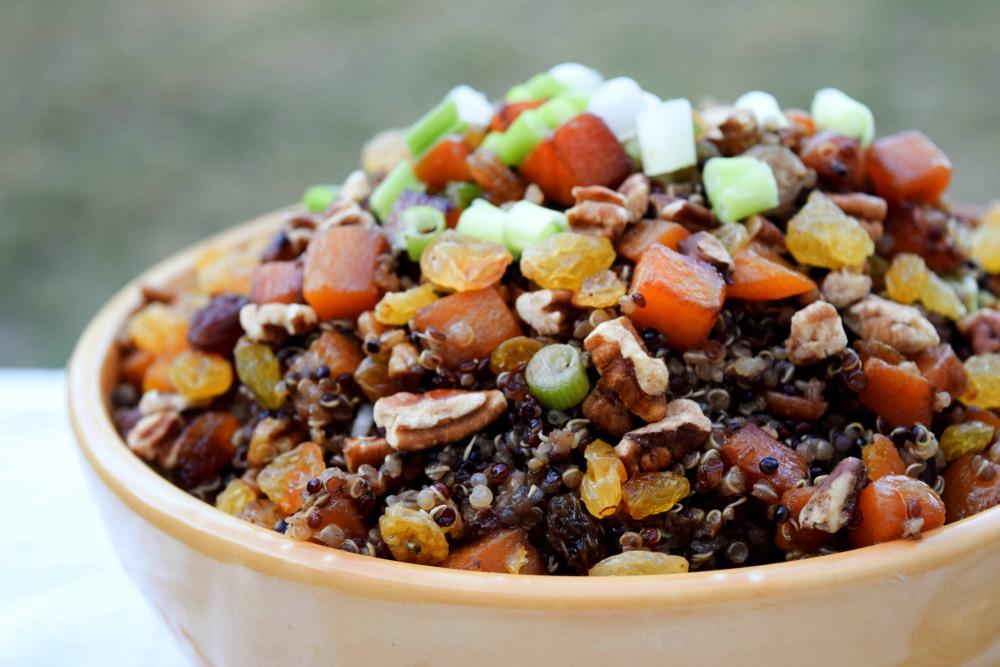 Maple Pecan Raisin Butternut Squash Quinoa - thefitfork.com