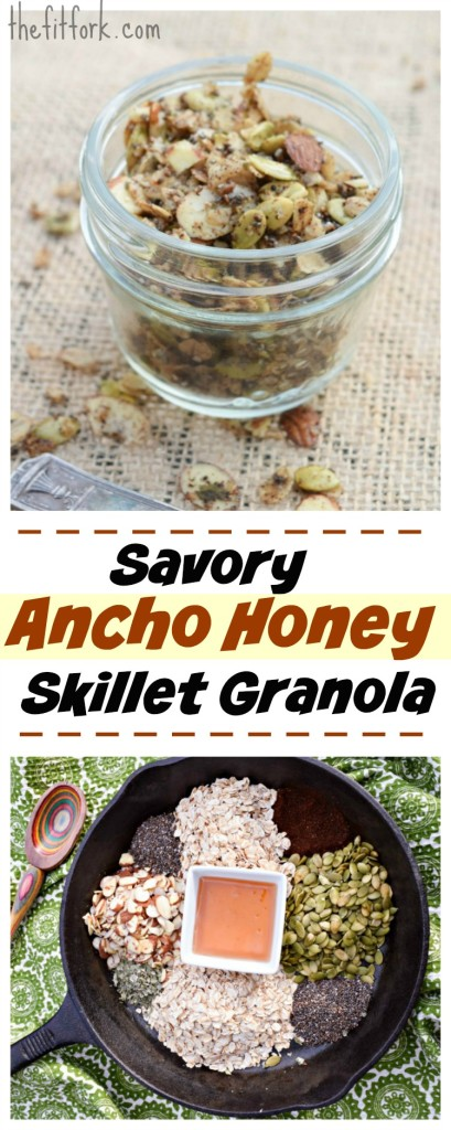 avory Ancho Honey Skillet Granola is delicious eaten alone, but also makes a great crunchy topping for salads, soups and baked fish.