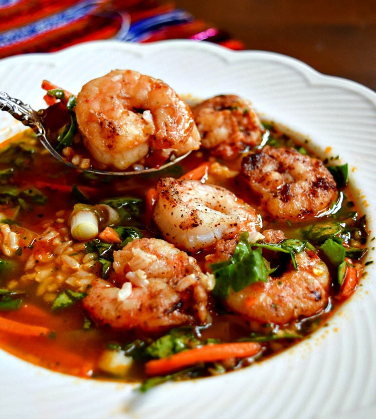 Spicy Shrimp Spinach Soup